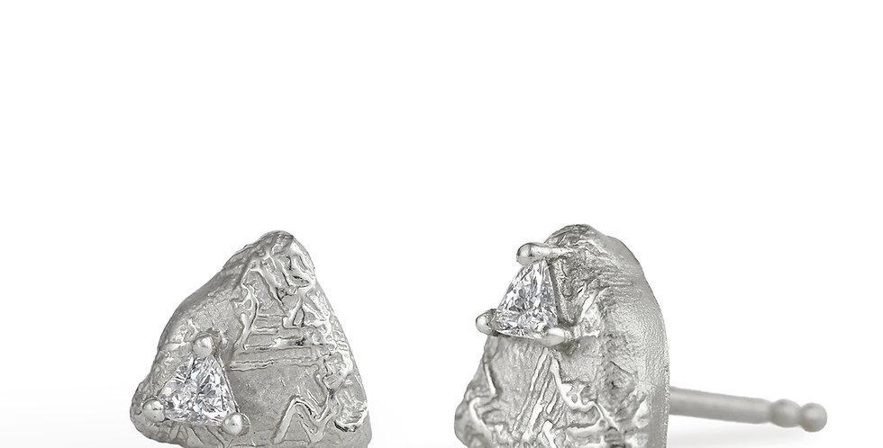 Trigon Diamond Stud Earring