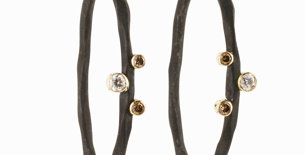 Rogue River Small Diamond Hoop Earrings