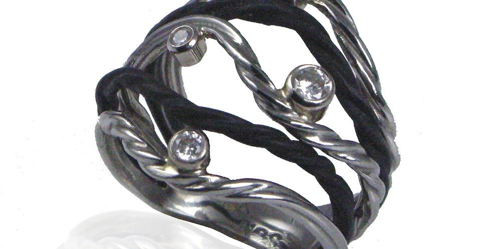 Clover Five Wire Diamond Ring