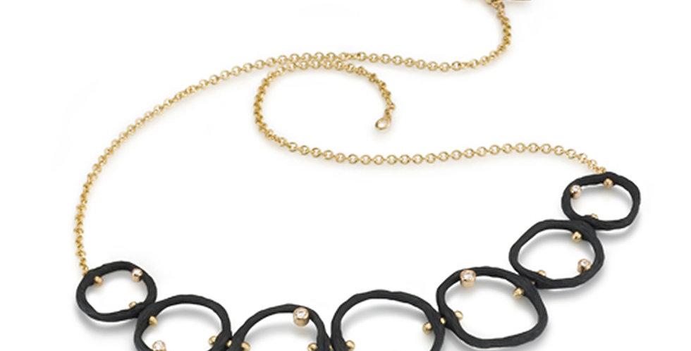 Pebble Diamond Seven Link Necklace