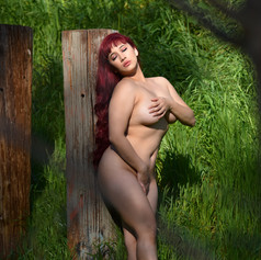 Implied nude in Nature
