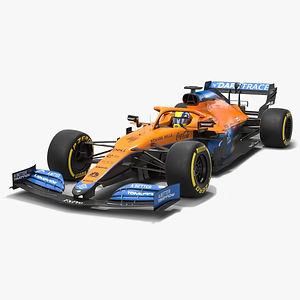 McLaren F1 2021 MCL35M Formula 1 race car  Low-poly PBR  3D model