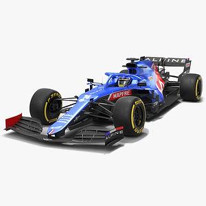 Alpine F1 Team A521 2021 Formula 1 race car Low-poly PBR  3D model