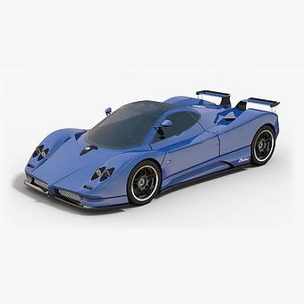 Pagani Zonda C12S Low-poly 3D model