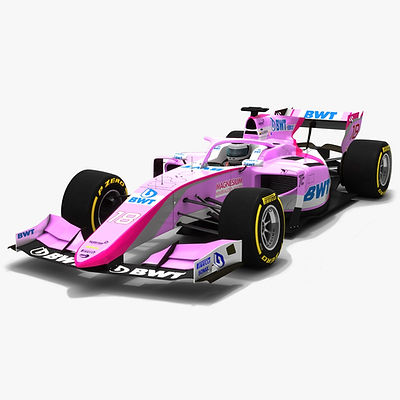 BWT Arden F2 #18 Formula 2 Season 2019 Low-poly 3D model