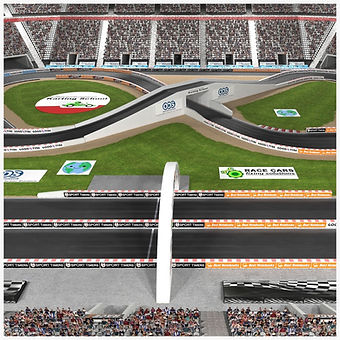 Stadium Race Track Low-poly PBR 3D model