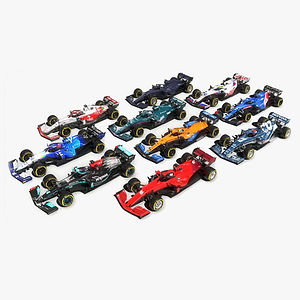 Formula 1 Season 2021 F1 Race Car Collection Low-poly PBR  3D models