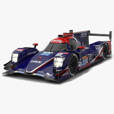 United Autosports WEC LMP2 Season 2019 2020 Low-poly PBR 3D model