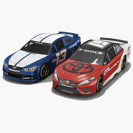 NASCAR Season 2017 Low-poly PBR 3D model Chevrolet SS Toyota Camry
