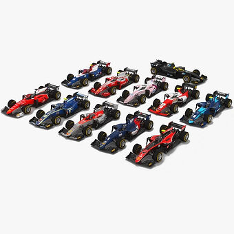 Formula 2 Season 2018 3D models