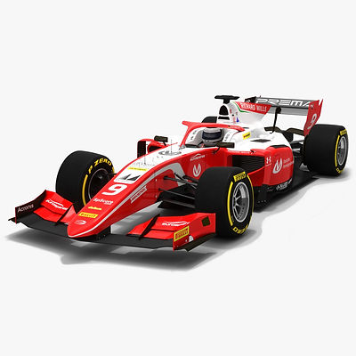 Prema Racing F2 #9 Formula 2 Season 2019 Low-poly 3D model