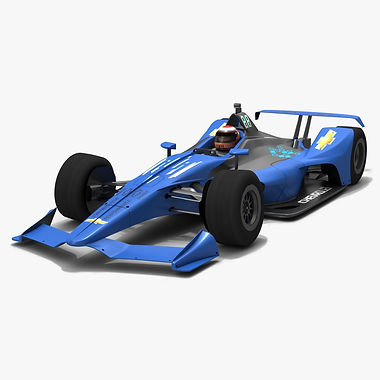 Chevrolet Dallara DW12 Season 2018 Low-poly 3D model
