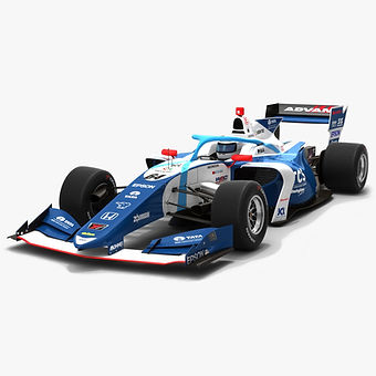 TCS Nakajima Racing #64 Super Formula Season 2019 Low-poly 3D model