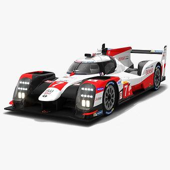 WEC Season 2019 2020 Low-poly PBR 3D models