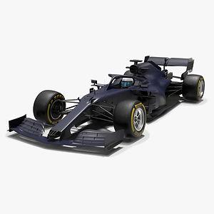 Grey Cat F1 GC16B 2021 Formula 1 race car Low-poly PBR  3D model
