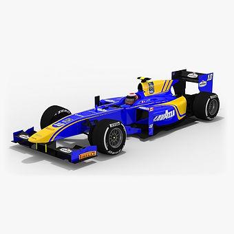 DAMS Formula 2 Season 2017 3D model