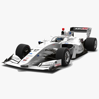 Real Racing #17 Super Formula Season 2019 Low-poly 3D model