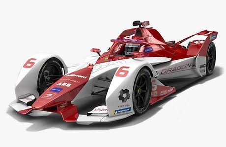 Dragon EV-5 Formula E Season 2020 2021 Race Car Low-poly PBR 3D model