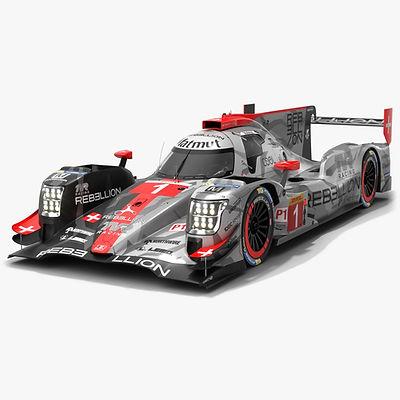 Rebellion Racing R13 WEC LMP1 Season 2019 2020 3D model