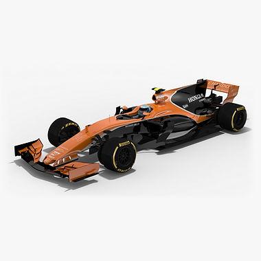 McLaren MCL32 Formula 1 Season 2017 3D model