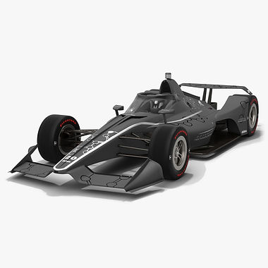 Dallara DW12 Aeroscreen 2020 Speedway Race Car  Low-poly 3D model