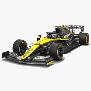 Renault F1 R.S.20 Formula 1 Season 2020 Low-poly PBR  3D model