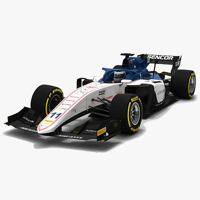 Sauber F2 #11 Formula 2 Season 2019 Low-poly 3D model