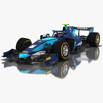 DAMS Formula 2 Season 2018 3D model