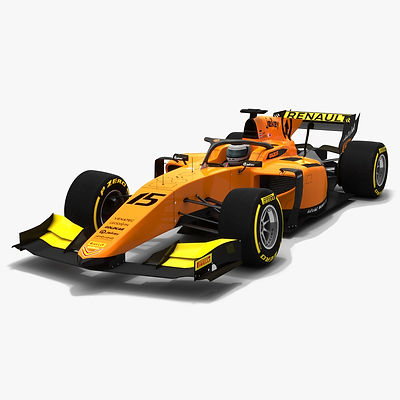 Campos Racing F2 #15 Formula 2 Season 2019 Low-poly 3D model