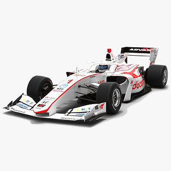 DoCoMo Team Dandelion Racing #1 Super Formula Season 2019 Low-poly 3D model