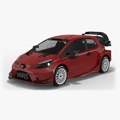 Toyota Yaris WRC Generic Season 2017 Low-poly 3D model