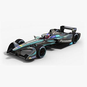 Panasonic Jaguar Racing Formula E Season 2016 2017 3D model