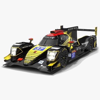 Jackie Chan DC Racing WEC LMP2 Season 2019 2020 Low-poly PBR 3D model