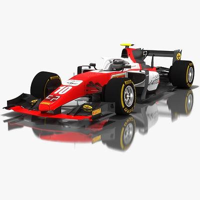 MP Motorsport Formula 2 Season 2018 3D model