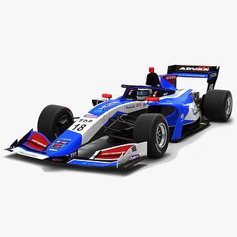 carrozzeria Team KCMG #18 Super Formula Season 2019 Low-poly 3D model