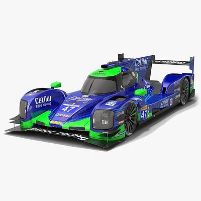 Cetilar Racing WEC LMP2 Season 2019 2020 Low-poly PBR 3D model