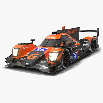 G-Drive Racing Team ELMS LMP2 Season 2020 Low-poly PBR 3D model