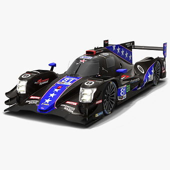 DragonSpeed #81 Oreca 07 IMSA WeatherTech 2019 Low-poly 3D model