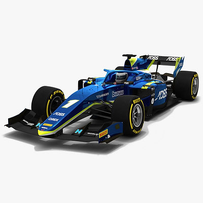 Carlin F2 #1 Formula 2 Season 2019 Low-poly 3D model