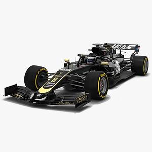 Haas F1 VF-19 Formula 1 Season 2019 Low-poly 3D model