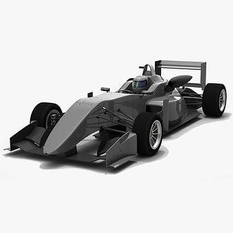 Formula 3 F317 Season 2018 Low-poly PBR 3D model
