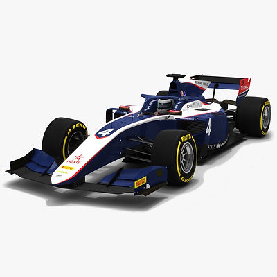 ART Grand Prix F2 #4 Formula 2 Season 2019 Low-poly PBR 3D model