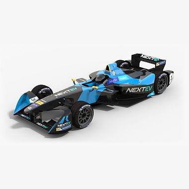 NEXTEV NIO Formula E Season 2016 2017 3D model