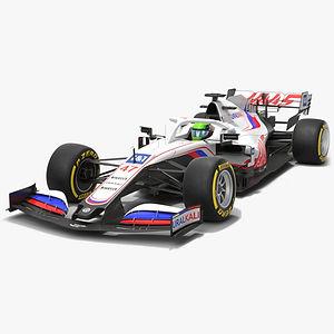 Haas F1 Team 2021 VF-21 Formula 1 race car Low-poly PBR  3D model
