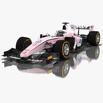 BWT Arden Formula 2 Season 2018 3D model