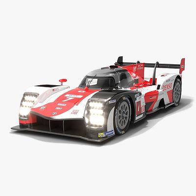 Toyota GR010 Hybrid WEC 2021 Hypercar race car 3D model