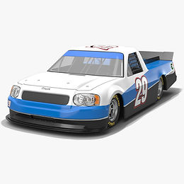 NASCAR Pickup Truck Race Car Low-poly PBR 3D model