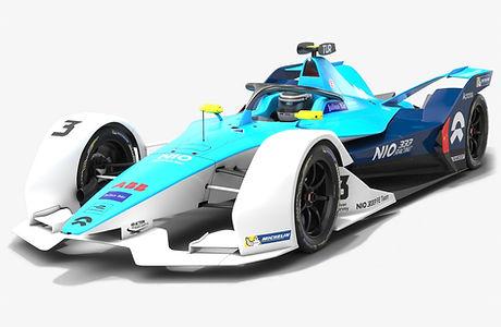 NIO 333 Formula E Team Season 2019 2020 Low-poly PBR 3D model