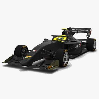 Formula 3 F317 2018 2019 Low-poly PBR 3D model