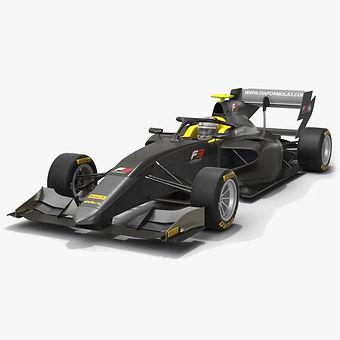 Dallara F3 Formula 3 Season 2020 Low-poly PBR 3D model